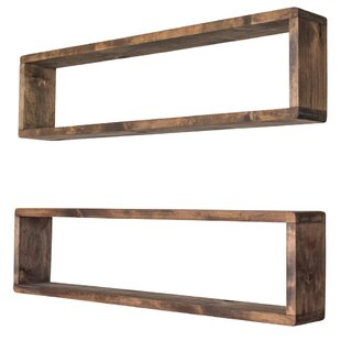 Hampden Stackable Long Box Wall Shelf (Set of 2)