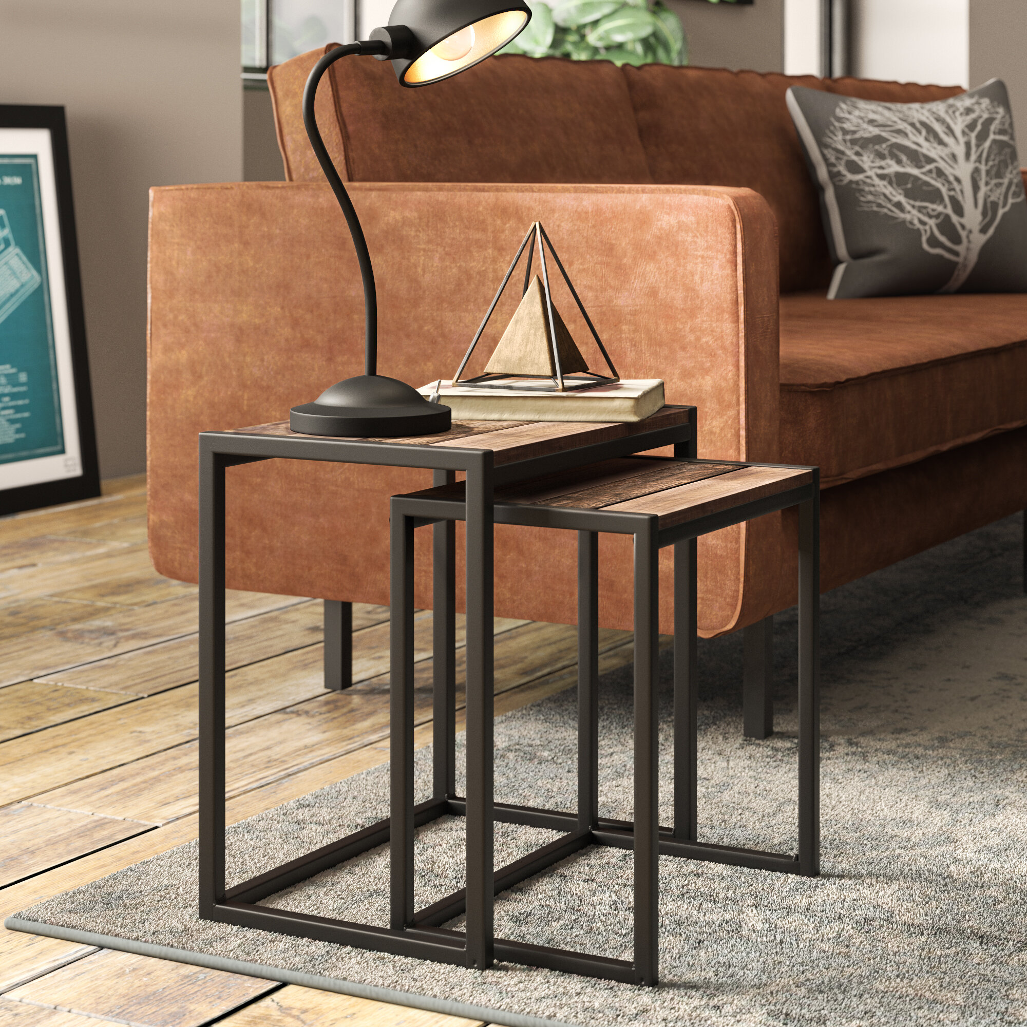 c826f605a1501 Williston Forge Amesbury 2 Piece Nest of Tables & Reviews   Wayfair.co.uk