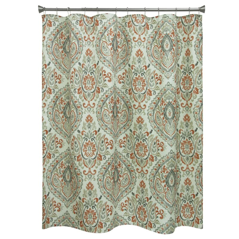 orange floral shower curtain. Carnside Cream Floral Shower Curtain Red Barrel Studio  Reviews