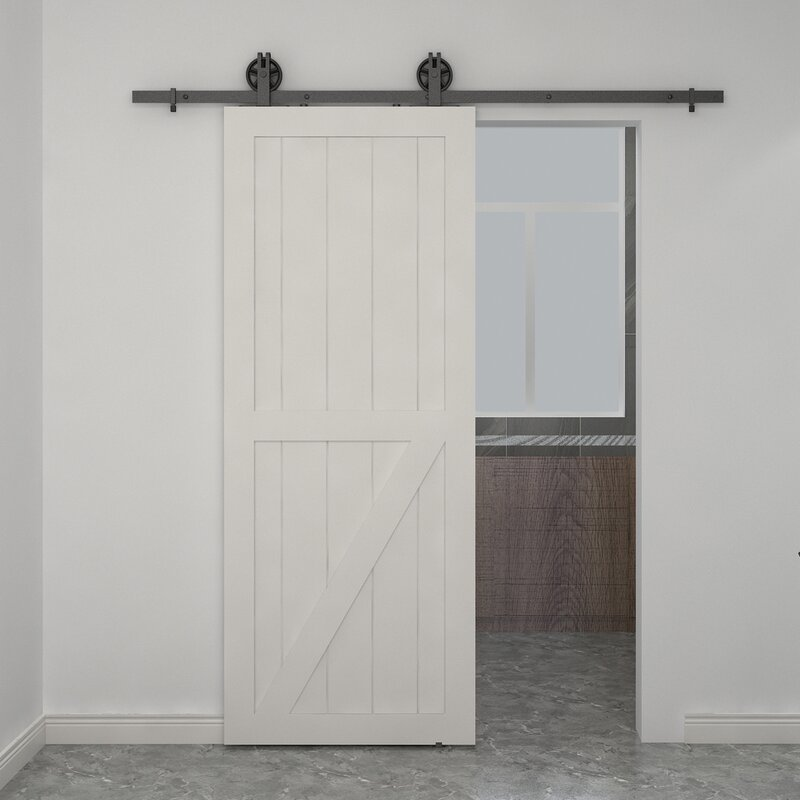 Colonial Elegance Paneled Wood Unfinished Half Check Barn Door Without Installation Hardware Kit Wayfair