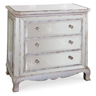 Hooker Furniture 3 Drawer French Mirror Chest