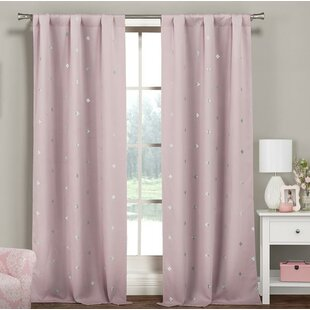 Ambrine Metallic Printed Clover Room Darkening Thermal Rod Pocket Curtain Panels (Set of 2)