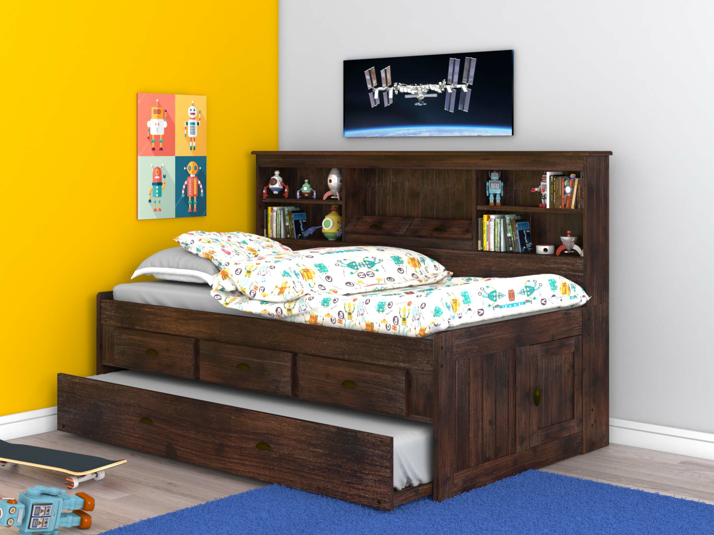 Marea Twin Daybed With Trundle Bookcase And Drawers