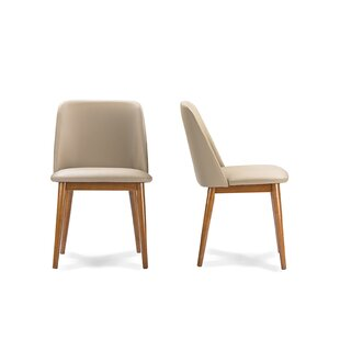 Price comparison Carreiro Upholstered Dining Chair (Set of 2) by George Oliver Reviews (2019) & Buyer's Guide