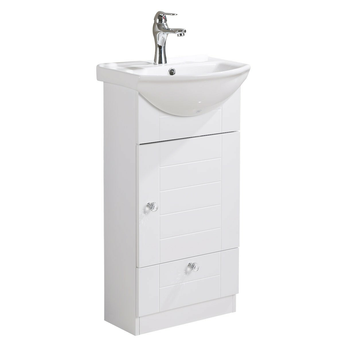 The Renovators Supply Inc Small Vanity Vitreous China 18 Wall