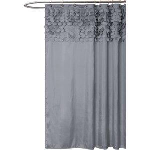 black and gray shower curtain. lesniak shower curtain black and gray