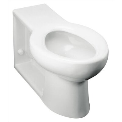 anglesey walloutlet 16 gpf flushometer valve elongated bowl with integral seat and rear inlet