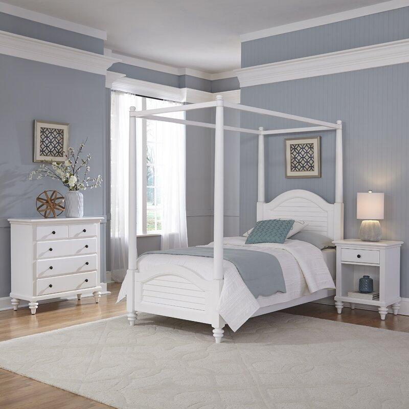 Sitz Twin Canopy 3 Piece Bedroom Set