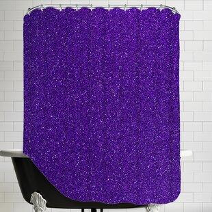 Sparkley Shower Curtain ByEast Urban Home