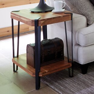 Union Rustic Tindal Live Edge End Table