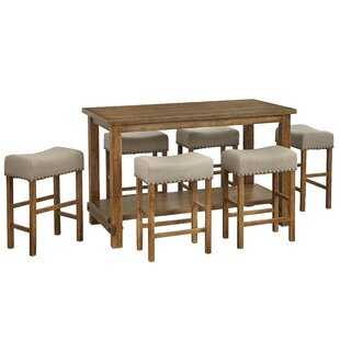 Hendina 7 Piece Counter Height Pub Table Set Gracie Oaks