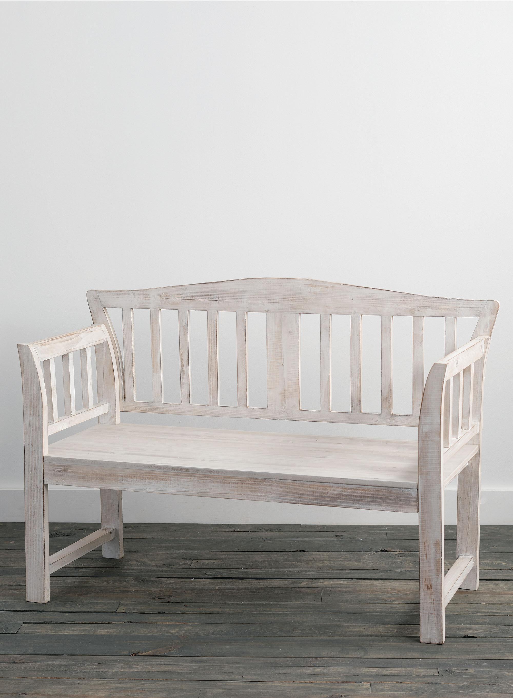Ophelia Co Trimm Wood Bench Wayfair