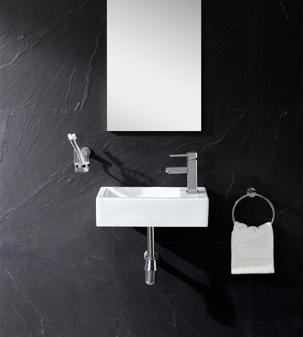 Fine Fixtures Ceramic 18 Wall Mount Bathroom Sink Reviews Wayfair