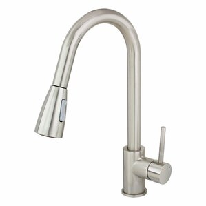 Kokols Single Handle Single Hole Kitchen Faucet with Pull out Dual Spray