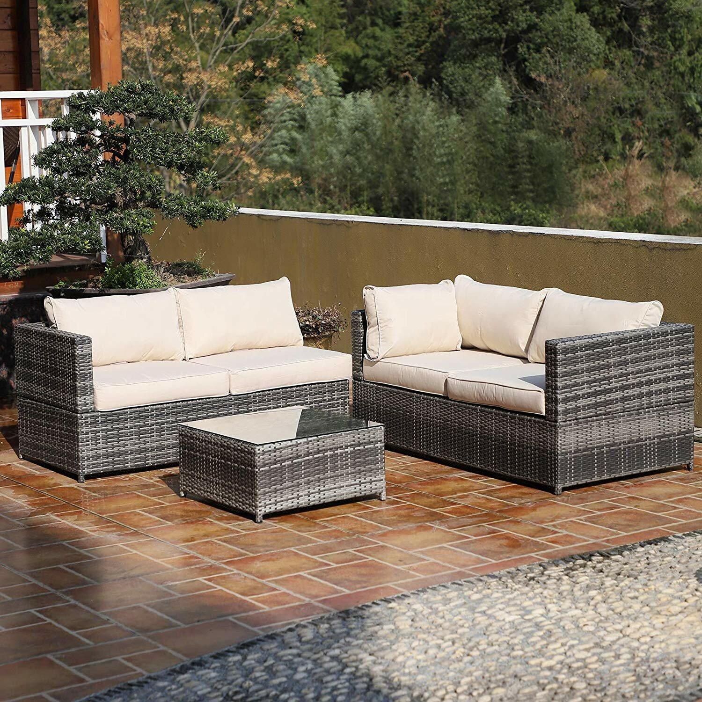 Marta 9 Seater Rattan Sofa Set