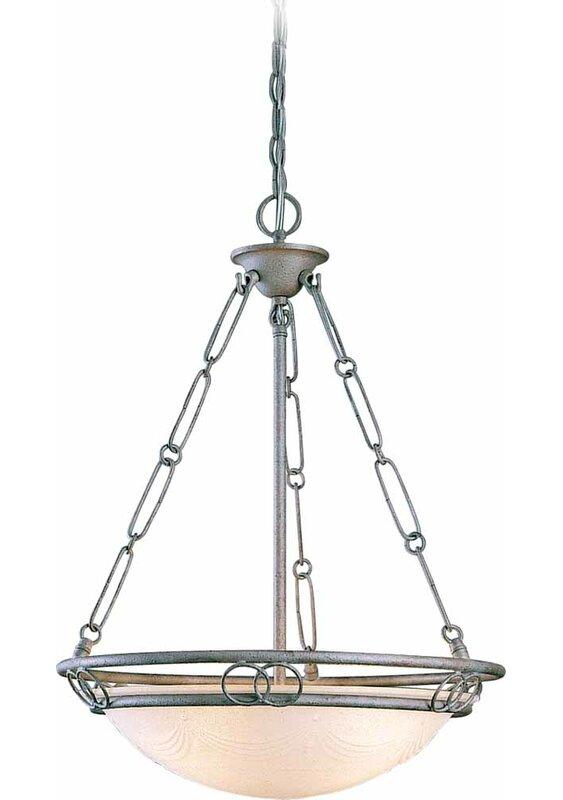 Volume Lighting Kuta 3 Light Unique Statement Bowl Pendant Wayfair