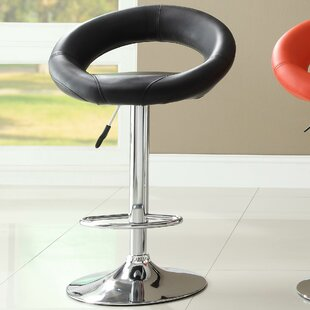 Agrippa Adjustable Height Swivel Bar Stool (Set of 2)