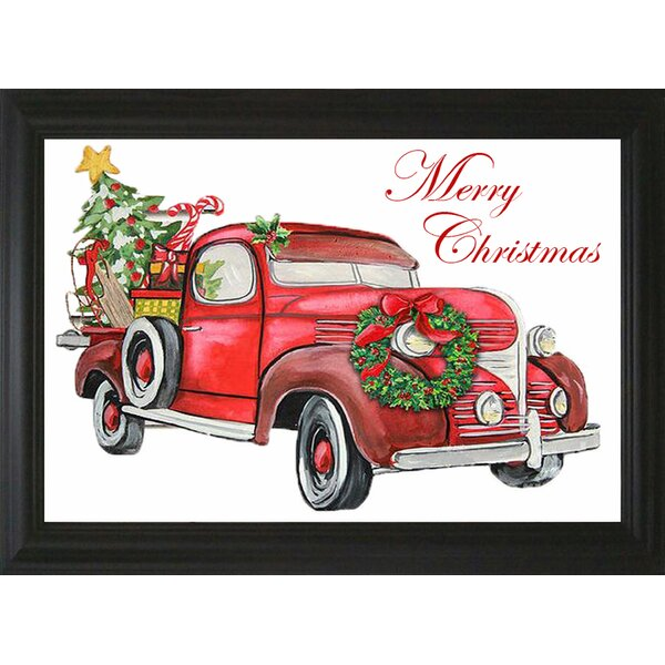 Christmas Red Truck.Christmas Red Truck Wayfair Ca
