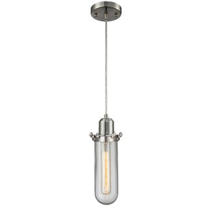 Mikell 1-Light Cylinder Pendant by Williston Forge