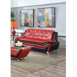 Arabella 3 Piece Leather Standard Living Room Set by Orren Ellis