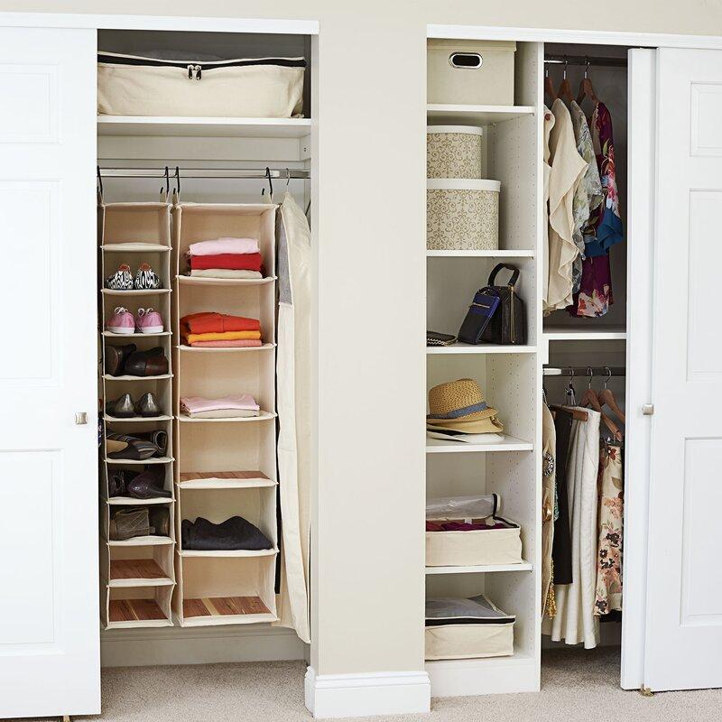 41372162a014b Household Essentials Cedarline 6 Compartment Hanging Organizer & Reviews |  Wayfair