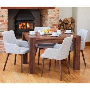 Frisch Dining Set With 4 Chairs By Rosalind Wheeler