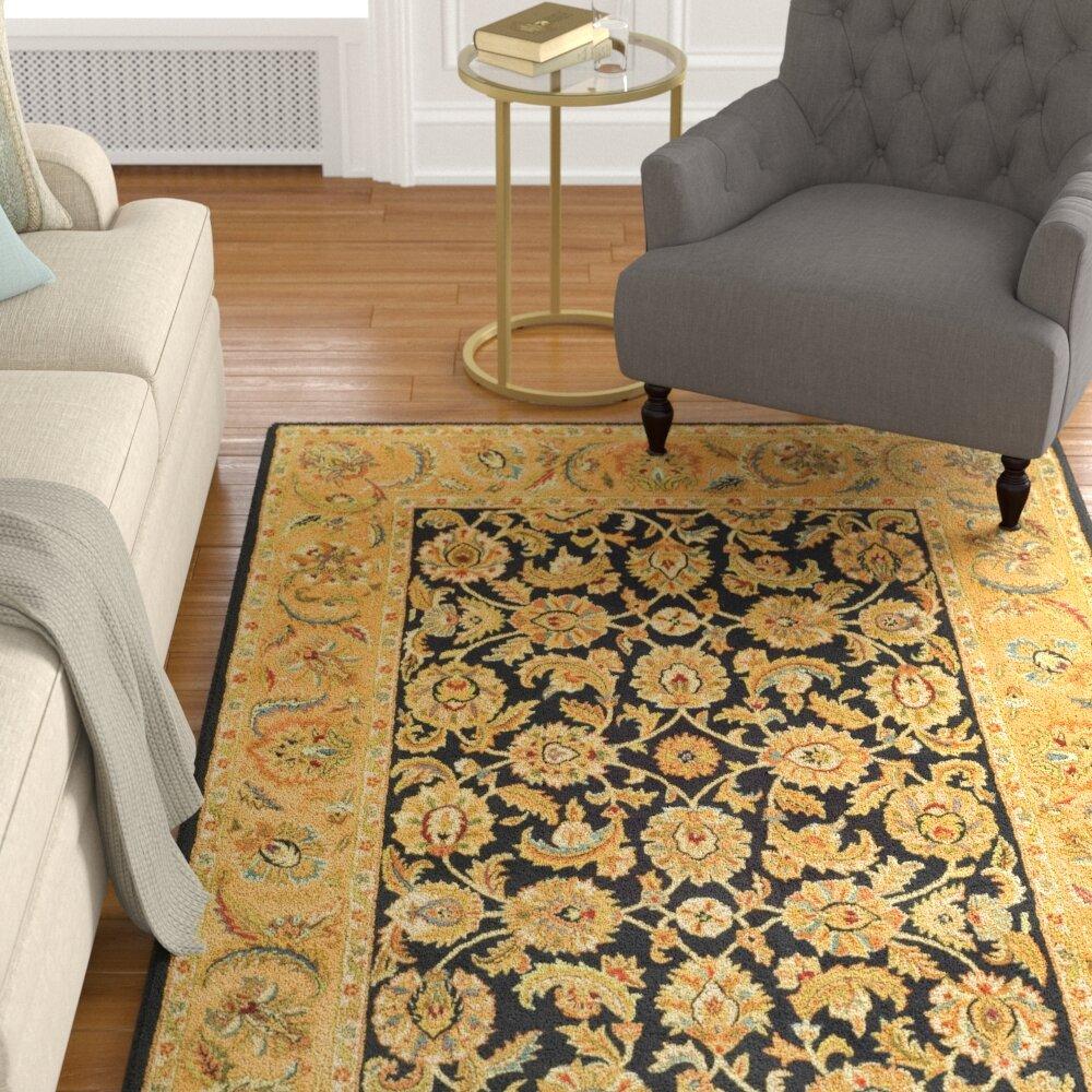 Astoria Grand Carnasheeran Black Gold Area Rug Reviews Wayfair