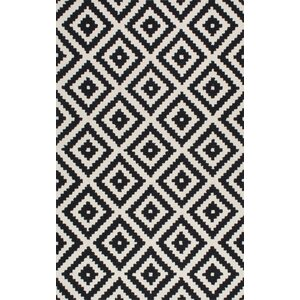 Obadiah Hand-Tufted Wool Black Area Rug
