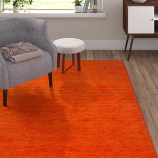 Musani Handmade Kilim Orange Rug by Longweave