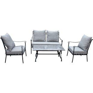 Review Huneycutt 4 Seater Sofa Set