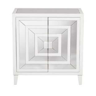 Square Mirror Overlay 2 Door Accent Cabinet by Willa Arlo Interiors