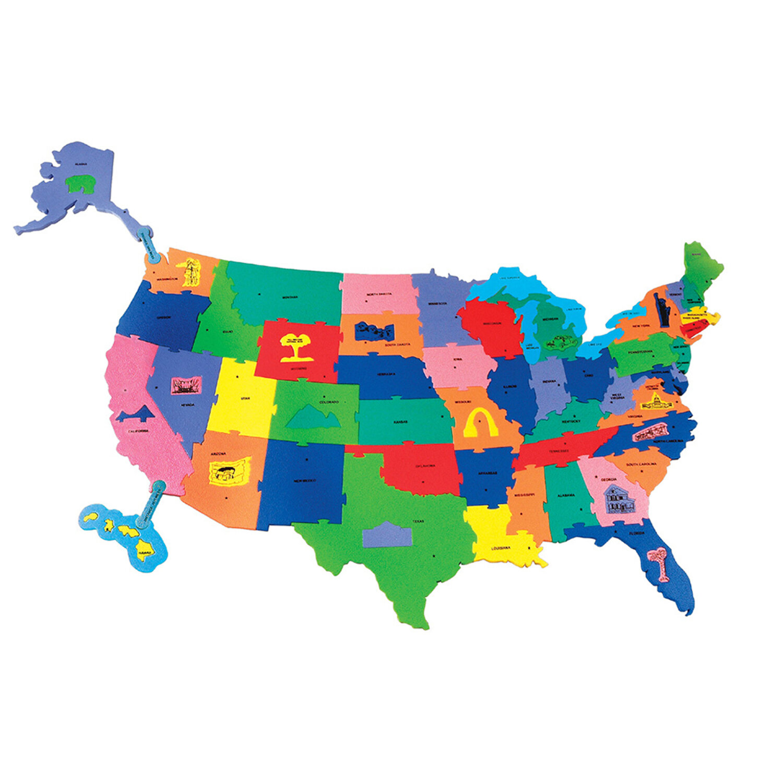 Chenille Kraft Giant Wonderfoam Us Puzzle Map Wayfair - Giant-us-map