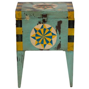 Williston Forge Crestline Pinwheel Ballot Box End Table