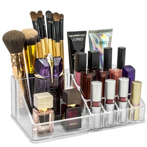 Acrylic Sectional Makeup Cosmetic Organizer