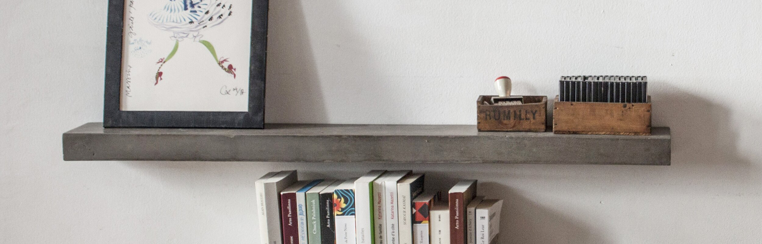 Floating Shelving lyon beton sliced concrete floating shelf & reviews | wayfair