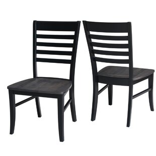 Phoenix Solid Wood Dining Chair (Set of 2) Red Barrel Studio