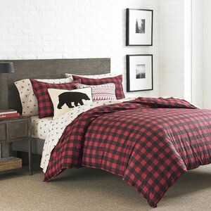 Mountain Plaid 3 Piece Reversible Duvet Cover Set