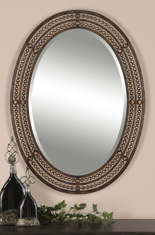 Oval Wall Mirror world menagerie oval wall mirror & reviews | wayfair