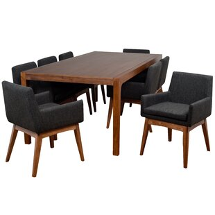 Perla 9 Piece Solid Wood Dining Set