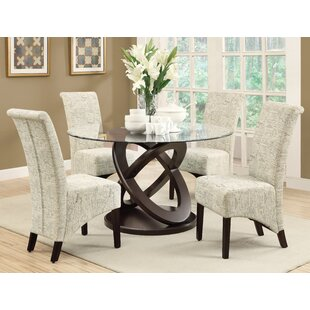 Acres 5 Piece Wood/Glass Dining Set
