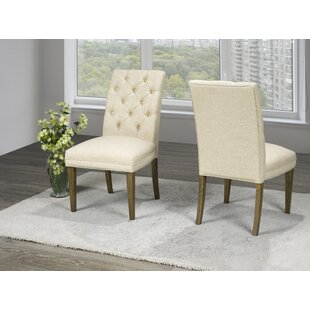 Ollis Tufted Upholstered Dining Chair (Set of 2) Charlton Home