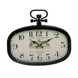 Metal Oval Wall Clock by Cole & Grey