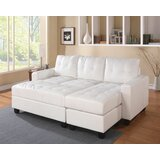 Krasnoo 83 Wide Faux Leather Square Arm Sofa Chaise by Wrought Studio™