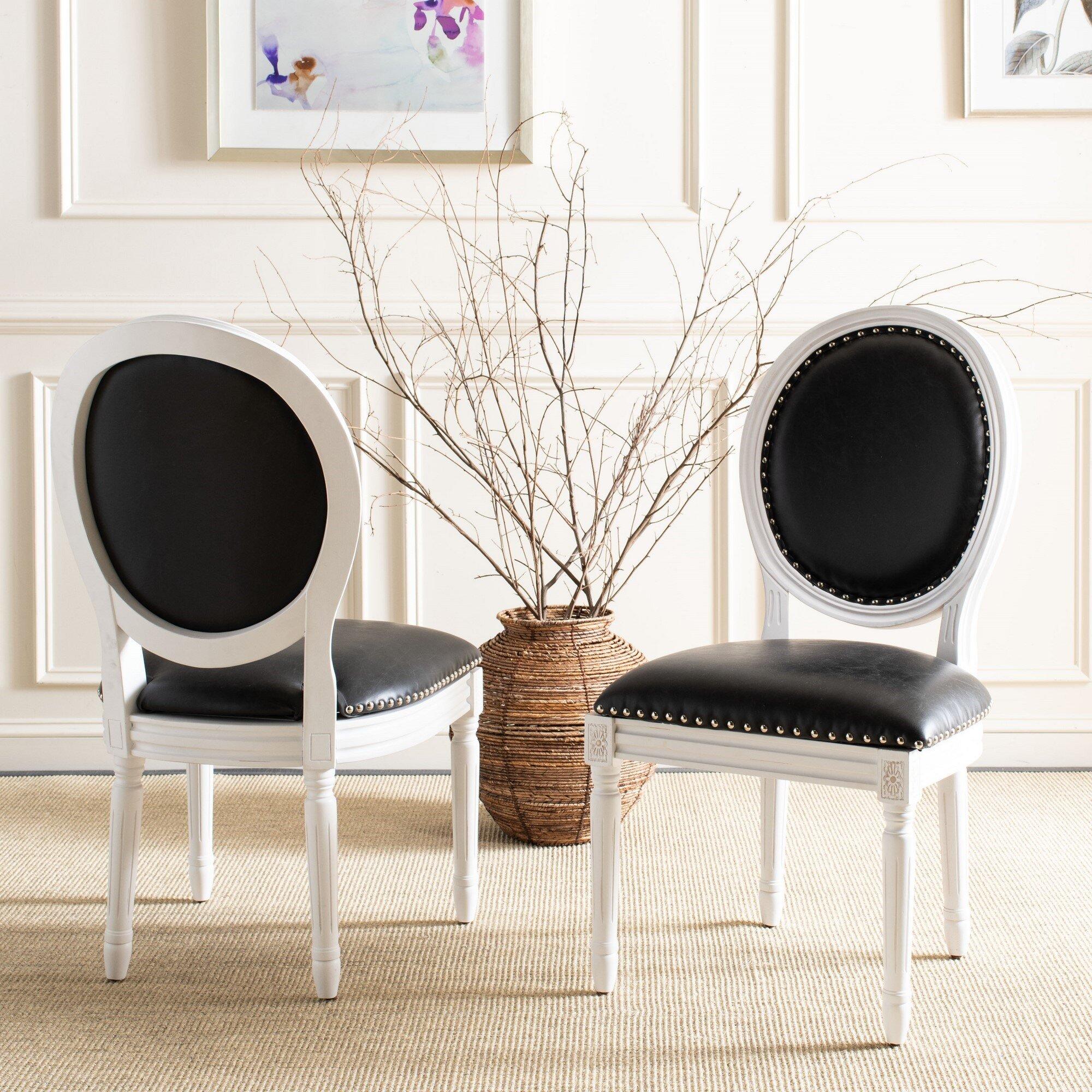 Falgoust Velvet Upholstered King Louis Back Side Chair Reviews Birch Lane