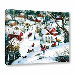 Winter's Playland Graphic Art on Wrapped Canvas