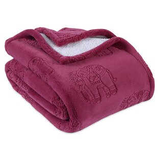 Cozy Sherpa Elephant Throw