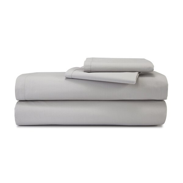 MOHAP 4PCS Polyester Bed Sheet Set Fitted Sheet Full Size 1500 Count White Solid
