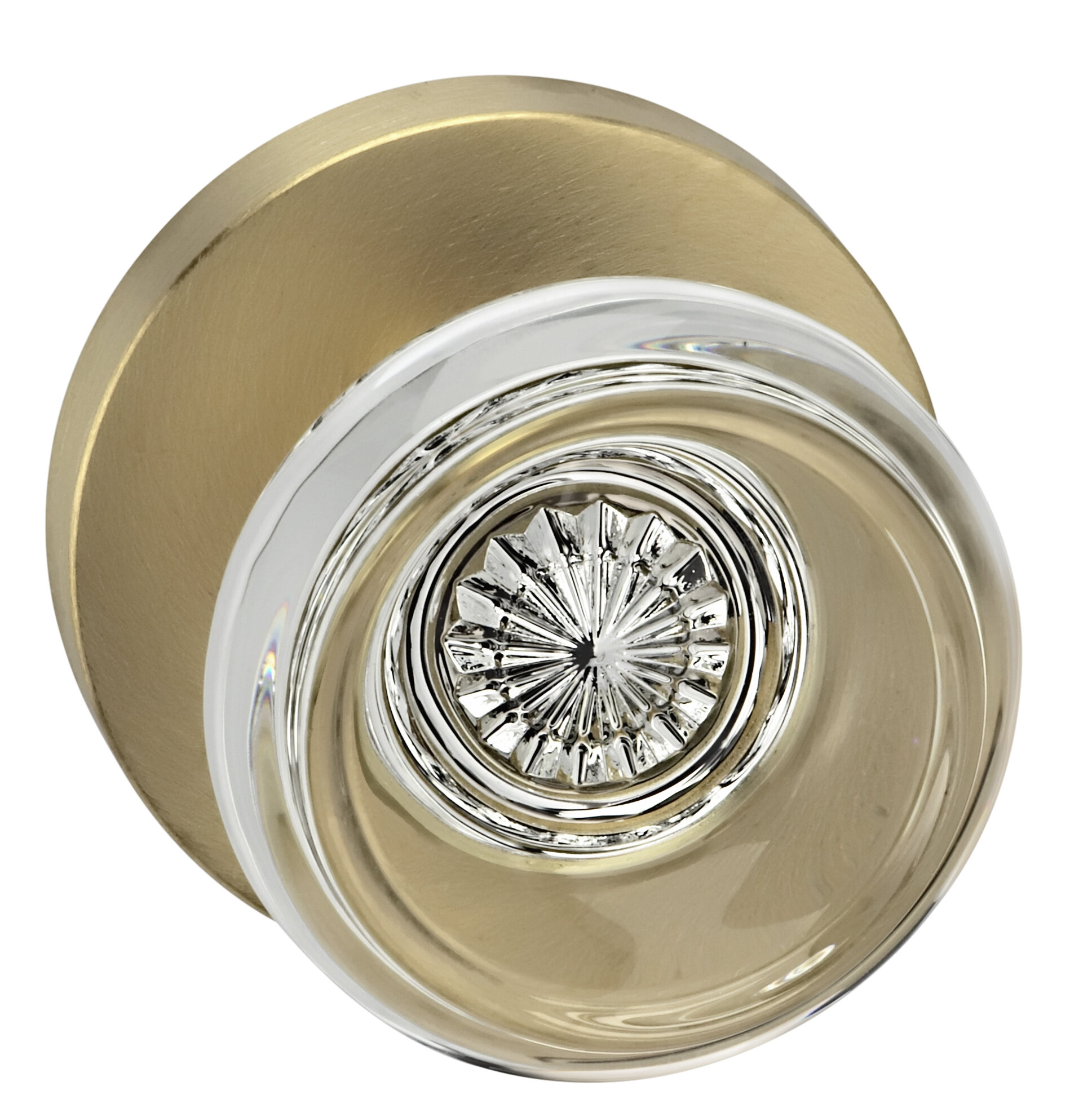 Picture of: Omnia Prodigy Glass Passage Door Knob With Round Rosette Wayfair