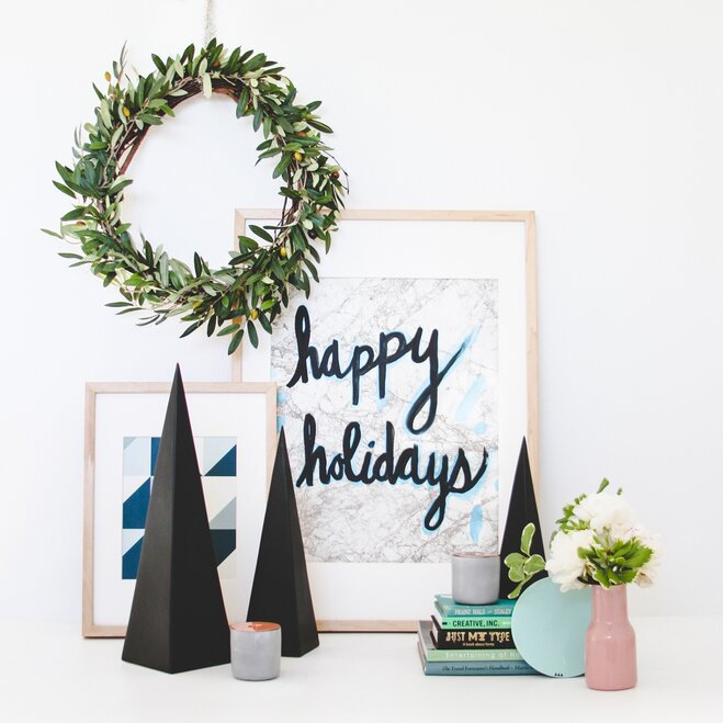 2 scandinavian inspired - Christmas Shelf Decorations