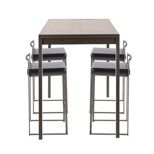 Gary Industrial 5-Piece Counter Height Dining Set Wade Logan